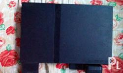 PS2 Black, memory card 8mb, cooler. W/ 11 burned CD *NO