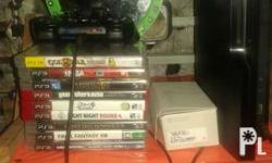 Ps3 unit 500gb + games 27 cds + 3 controlers pls need