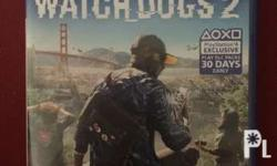 PlayStation 4 games watchdogs 2. No scratch