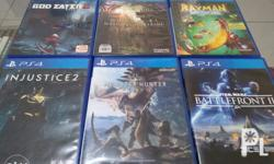 PS4 Games for Sale or Trade Monster Hunter World -