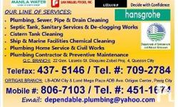 OUR LINE OF SERVICES: Re- piping work of all Plumbing
