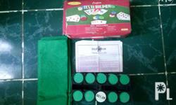 Poker set with box for sale P950 or swap Inclusions: