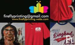 Email fireflyprinting at gmail .com Fb Firefly Printing