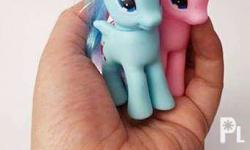 "3"" Soft Vinyl Ponies P95 a pair Sold as a pair in pink"