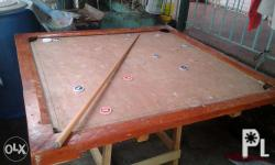 Pool table with commplete accessories solid yakal wood