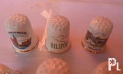 Porcelain Thimble and Porcelain bell Small
