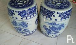 flawless smooth blue porcelain vase. can be use as