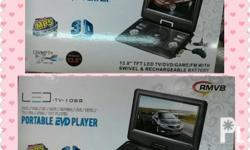 Portable EDV Player with Led TV Function 13.8 inches