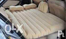 Inflatable Car Bed - Made from Suede-like material -
