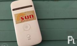 Portable Sun Wifi. With Charger For sure buyer please