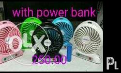 Rechargeable mini fan with and without power bank