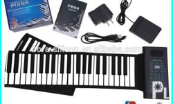 61 keys roll up piano, high key keyboard, enhance the