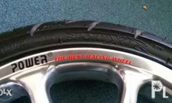 Power mags 14 inches with tubeless tires rear tire