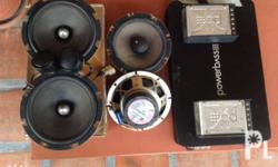 FOR SALE ALL PACKAGE Brand - POWERBASS 4 speakers front