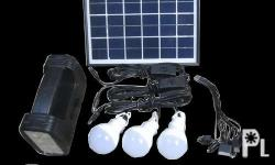 Features: 5w 9v Solar Panel 3x 5w LED Bulbs Built-in