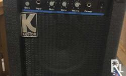 Kustom brand practice amp. Compact size and easily