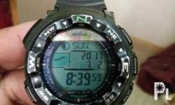 Pre-loved Authentic Casio Protrek PRG-250B, triple