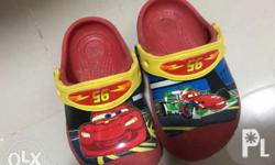 Used , Disney cars Authentic Crocs glow in the dark for