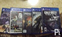 P1,500 each -call of duty ghosts -watch dogs -sleeping
