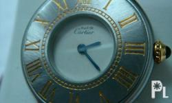Well taken cared of.  Must 21 Cartier watch. Price