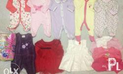 Preloved baby clothes for 0-4 months. Take all for 420