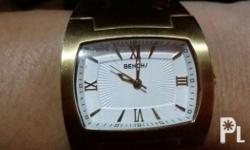 Gold-plated Quartz White dial