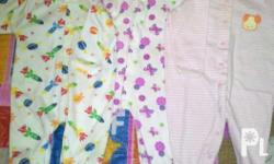 Baby girl onesies and overall suit. 7 pcs preloved