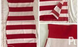 Stripes dress Body hugging/fit Slight stretchable Size