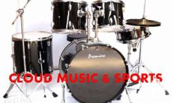 Full Size Complete Drum Set with Everything Included