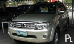 Vehicle Options 2011 Toyota Fortuner Year: 2011