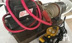 KDJ-10000L Electric Winch 12V DC, 75 ft. of cable,