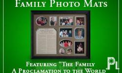 The Personalized Family Photo Mats are a great way to
