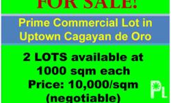 Prime Commercial Lot in Uptown Cagayan de Oro for SALE