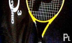 -Slightly used Prince Tennis Racket, Yellow with black
