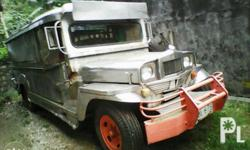 Private Jeepney 12 seaters, Motor: 4BC1