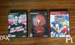 Ps2 games Spiderman 3 - 200 Tony Hawk's - 200 Sonic