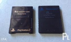 Original playstation 2 memory cards for sale Both made