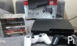 Ps3 slim 320gig with 9 games 2 controllers hdmi cord