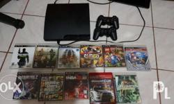 Ps3 2nd hand 160 gb With games 2 original controller