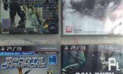 Good condition ps3 games Only 4 games available 400