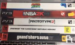 Assorted PS3 games NBA 2K14 - 600 Star Wars The clone
