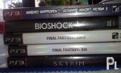 lahat may manuals except sa bioshock. -skyrim (with