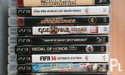 Up for purchase are 15 PS3 games. The games are: