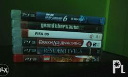 Ps3 games for sale or for trade..sa GTA 5 (with