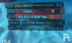 Ps3 games for sale only lang 500 each Red dead