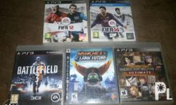 Playstation Ps3 games All in good condition Battle
