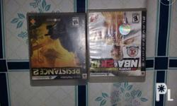 Ps3 games NBA 2k10 and Resistance 2 For sale 300 each/