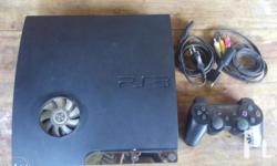 PS3 Slim 120GB JB With 1 wireless controller With power