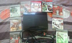PS3 package includes: ps3 super slim unit 500 gb AC