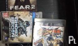 Ps3 with 2 controller and 3 CD and accessories